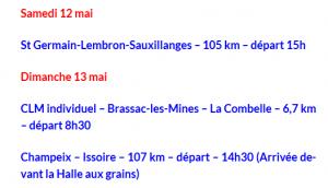etapes Issoire